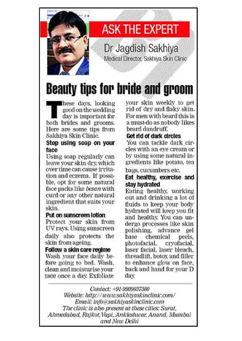 Beauty Tips For Bride & Groom