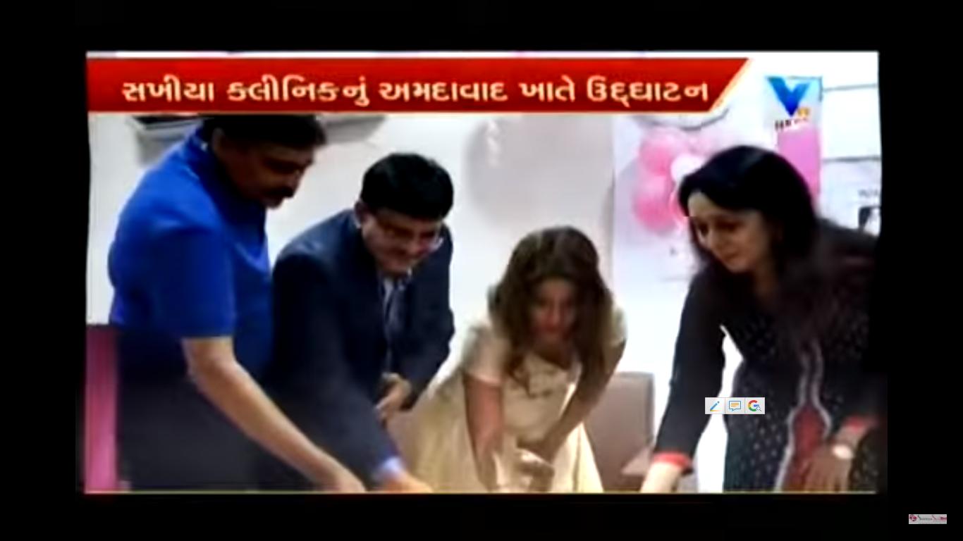 Nandini Deb at Bodakdev branch opening
